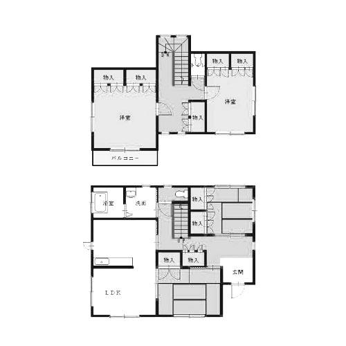 間取り画像:共働き夫婦が親と一緒に住める家