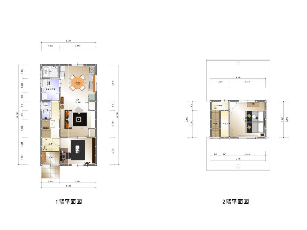 間取り画像:二人の趣味を形に、仲良し夫婦のリノベーション住宅