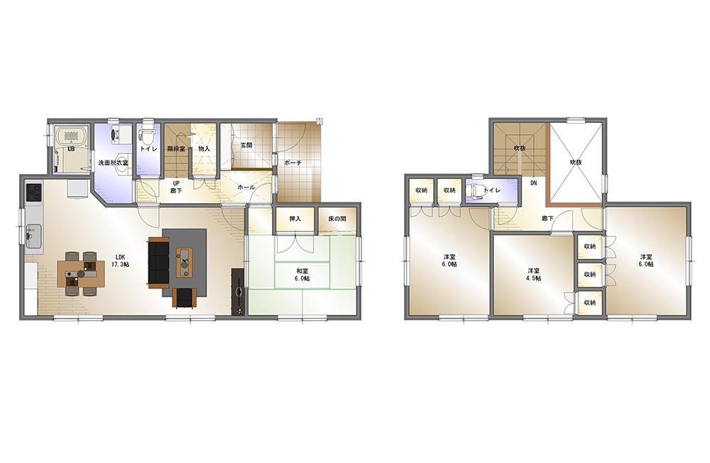 間取り画像:素敵空間のダイニングキッチン ~予算を抑えて賢く暮らす家~